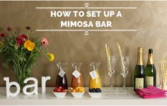 How To Set Up A Mimosa Bar for your next brunch or party! <via Pretty Mayhem>