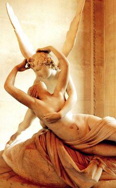 Antonio Canova - Amore E Psiche. Psyche Revived by Cupid's Kiss by Antonio CANOVA (1757 – 1822) | Paris, Musée du Louvre