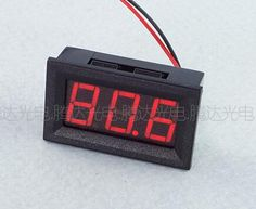 1pc Red 0.56 inch AC70-500V Digital Voltmeter Voltage Panel Meter LED Digital Voltmeter Voltage Display 2 Wires 48*29*20mm