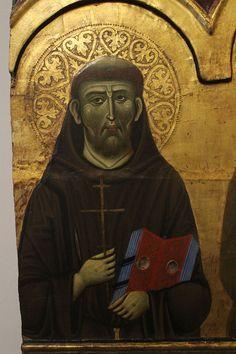 Guido da Siena - Madonna con Bambino e Santi, dettaglio (polittico n°7) - circa 1270 - Pinacoteca Nazionale di Siena