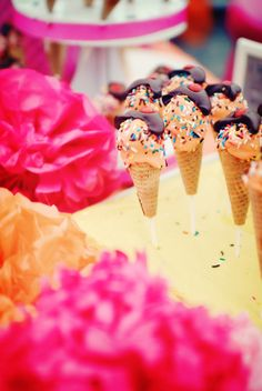 Ice cream cone cake pops#Repin By:Pinterest++ for iPad#