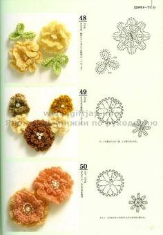 crochet flowers @Af's4/4/13