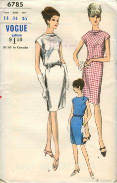 Vogue 6785 - Vintage Sewing Patterns