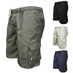 These Quick Dry Cargo Shorts are an ideal essential for your morning workout or afternoon swim, no matter the mileage. Short Outfits, Casual Outfits, Men Casual, Military Fashion, Mens Fashion, Fashion Shorts, Military Style, Combat Pants, Sport Shorts