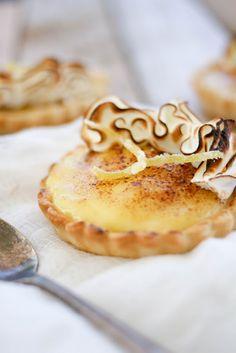 Lemon Sabayon Tartlettes (with a ruffle of meringue)