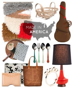 """Made in America gifts - Design Sponge (anyone want to """"gift"""" me that $500 lamp?!)"""