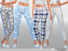 The Sims Resource: Dreaming is Free pajama pants collection by Pinkzombiecupcakes • Sims 4 Downloads