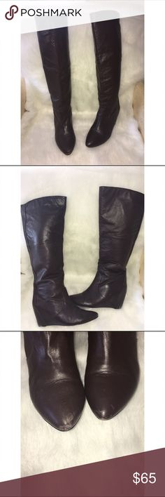 Report leather boots size 8.5 Leather upper balance man made boots. Pre-owned. Report Shoes Winter & Rain Boots