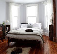 Bed in a bay window design sponge