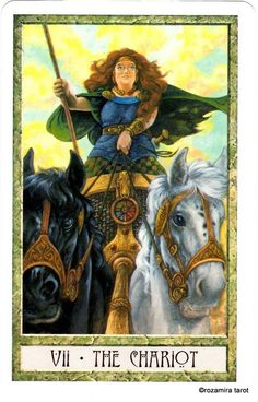 The Druid Craft Tarot Deck Yin Yang, The Chariot Tarot, Tarot Significado, Le Tarot, Tarot Major Arcana, Tarot Card Meanings, Oracle Cards, Tarot Decks, Deck Of Cards