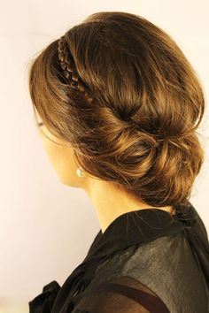 Classic updo with braid