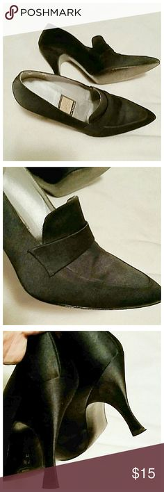 Black pointy dress heels In excellent condition. Just wore them once to a wedding Shoes Heels