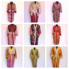 Assorted Kimono robe lot Bridesmaid Proposal Floral Robe -Bridesmaid Robes -Women's Clothing-Kimono Robes/Discount for Multi Orders Funky Fashion, Indian Fashion, Women's Fashion, Bridesmaid Robes, Bridesmaid Proposal, Antique Clothing, Women's Clothing, Wedding Kimono, Bridal Party Robes