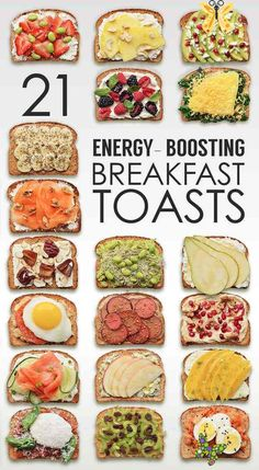 21 Ideas For Energy-Boosting Breakfast Toasts Healthy Breakfast<br> Let's toast! Quick And Easy Breakfast, Healthy Breakfast Recipes, Easy Healthy Recipes, Healthy Drinks, Healthy Snacks, Free Recipes, Nutrition Drinks, Diet Drinks, Dog Recipes