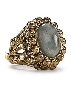 House of Harlow 1960 14KT Plated Oval Skull Ring - New Arrivals - Jewelry - Jewelry & Accessories - Bloomingdale's