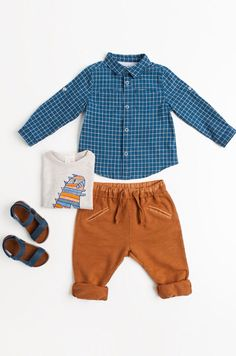 Shop by look - Baby boy months - 3 years) - KIDS Baby Boy Clothes Hipster, Hipster Babies, Baby Boy Outfits, Kids Outfits, Little Boy Fashion, Kids Fashion Boy, Stylish Boys, Trendy Kids, Cute Baby Boy