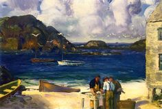 Fishing Harbor, Monhegan Island George Wesley Bellows - 1913-1915