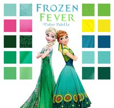 Frozen Fever color palette