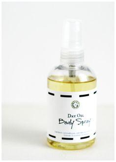 Dry Oil Body Spray ~ gardenmatter.com