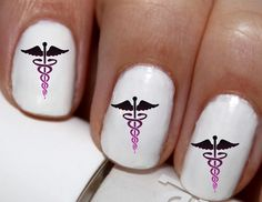 20 pc Nurse RN Nurse Caring For Life Heart Nail by EasyNailTrends