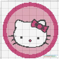 Hello Kitty Cross Stitch Pattern - Punto de cruz