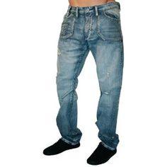AKOO by T.I. Bear Claw Denim Distressed Vintage Wash Mens Jeans (Apparel)