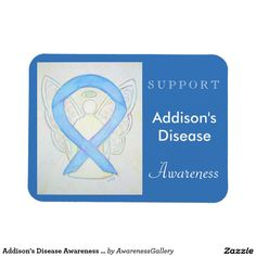 Addison's Disease Awareness Ribbon Light Blue Angel Gustom Gift Magnet