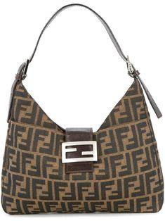 7785b675b89 Fendi Zucca Pattern Shoulder Bag Sport Chic, Luxury Bags, Designer Bags,  Print Patterns