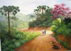 2007 - Paisagem (Pintura),  60x80 cm por Silvana Oliveira pintura em óleo sobre tela , www.silvanaoliveira.art.br