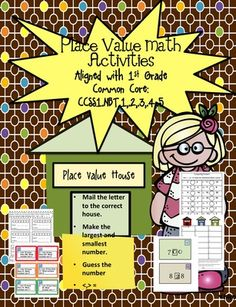 Place Value Math Activities Aligned with Common Core from Sunshine and Lollipops on TeachersNotebook.com -  - These activities are ready to use worksheets, task cards and an easy to assemble activity that will sure to get your kiddos understanding place value.