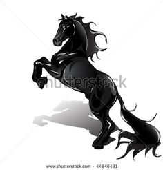 Image detail for -black horse horse tattoo symbol for design mustang icon horse