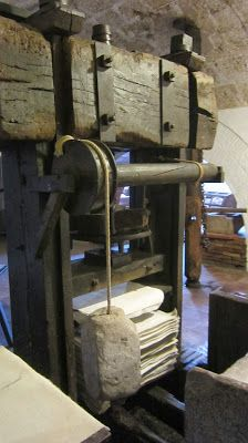 A paper press at the Museu-Molí Paperer de Capellades, near Barcelona.