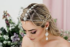 New Fashion Bridal Hair Accessory Ladies Ear Decoration Wedding Hair Jewelry With Tassel New Arrival Attractive And Durable Jewelry Sets & More