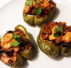A Profound Hatred of Meat: Stuffed Bell Peppers with Mushroom Bacon