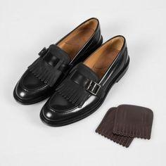 Chaussures Paul Smith Femme | Mocassins Costello En Cuir De Veau Noir À Franges
