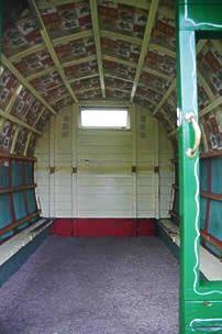 English Gypsy caravan, interior.