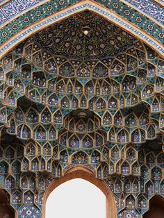 Azari style of persian architecture at Jameh Mosque in Yazd, Iran (by Leo Kerner).