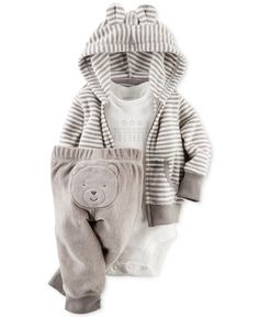 Carter's Baby Boys' 3-Piece Hoodie, Bodysuit & Pants Set