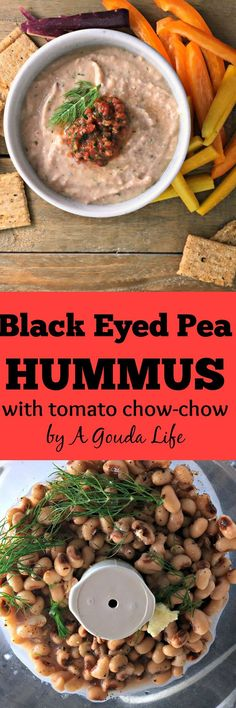 black eyed pea hummus - easy, healthy delicious appetizer.