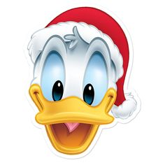 With his Santa hat and cheery expression, Donald Duck will be the life of your Christmas party! Made from sturdy card, our festive character masks let you bring all of your Disney favourites to life. Donald Duck Christmas, Mickey Mouse Christmas, Christmas Rock, Mickey Minnie Mouse, Christmas Pictures, Disney Christmas Decorations, Xmas, Goofy Disney, Disney Cartoon Characters