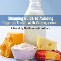 You Don't Have to Eat Carrageenan! Find Alternatives to this Toxic Food Additive: http://www.cornucopia.org/2014/02/dont-eat-carrageenan-finding-alternatives-toxic-food-additive #Carrageenan #Toxic #humanhealth The Cornucopia Institute