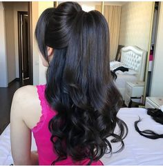 Ideas hair cuts wavy layers curls for 2019 Ponytail Hairstyles, Bride Hairstyles, Hairstyles Haircuts, Braid Ponytail, Hair Up Styles, Natural Hair Styles, Blonde Hair Goals, Bridal Hair, Hair Inspiration