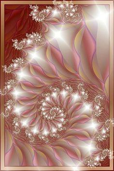 ♥ ⊰❁⊱ June by SJYanns. ⊰❁⊱ (fractal art) part of a set Fractal Geometry, Sacred Geometry, Fractal Images, Fractal Art, Photo Bougie, Et Wallpaper, Mandelbrot Fractal, Fractal Design, Belle Photo