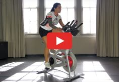 Just press play for a FREE 30-minute ride full of hills and intervals. http://greatist.com/move/indoor-cycling-video