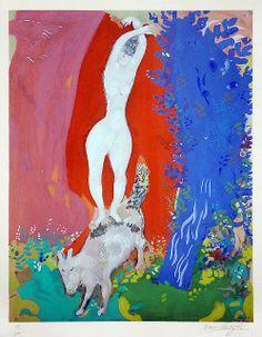 Marc Chagall ~ Le Cirque, Paris 1967 ~Repinned Via mloli alborch