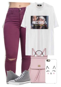 """✌✌✌"" by gxldenqueen ❤ liked on Polyvore featuring Dolce&Gabbana, Converse and Casetify"