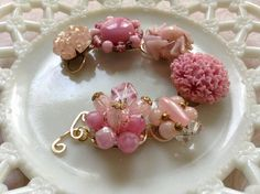 Upcycled VINTAGE earring bracelet is a one of by EmmaLynnTreasures, $34.00