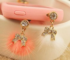 1PC Bling bow with ball top dust plug door Beautifullyshop, $4.99