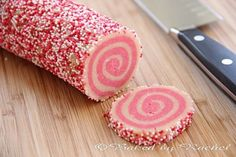 Pink Spiral Sugar Cookies. So fun!