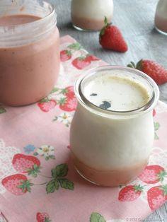 Iogurte de baunilha com curd de morango
